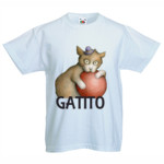 CAMISETA GATITO - Camiseta Valueweight Niño Fruit Of The Loom